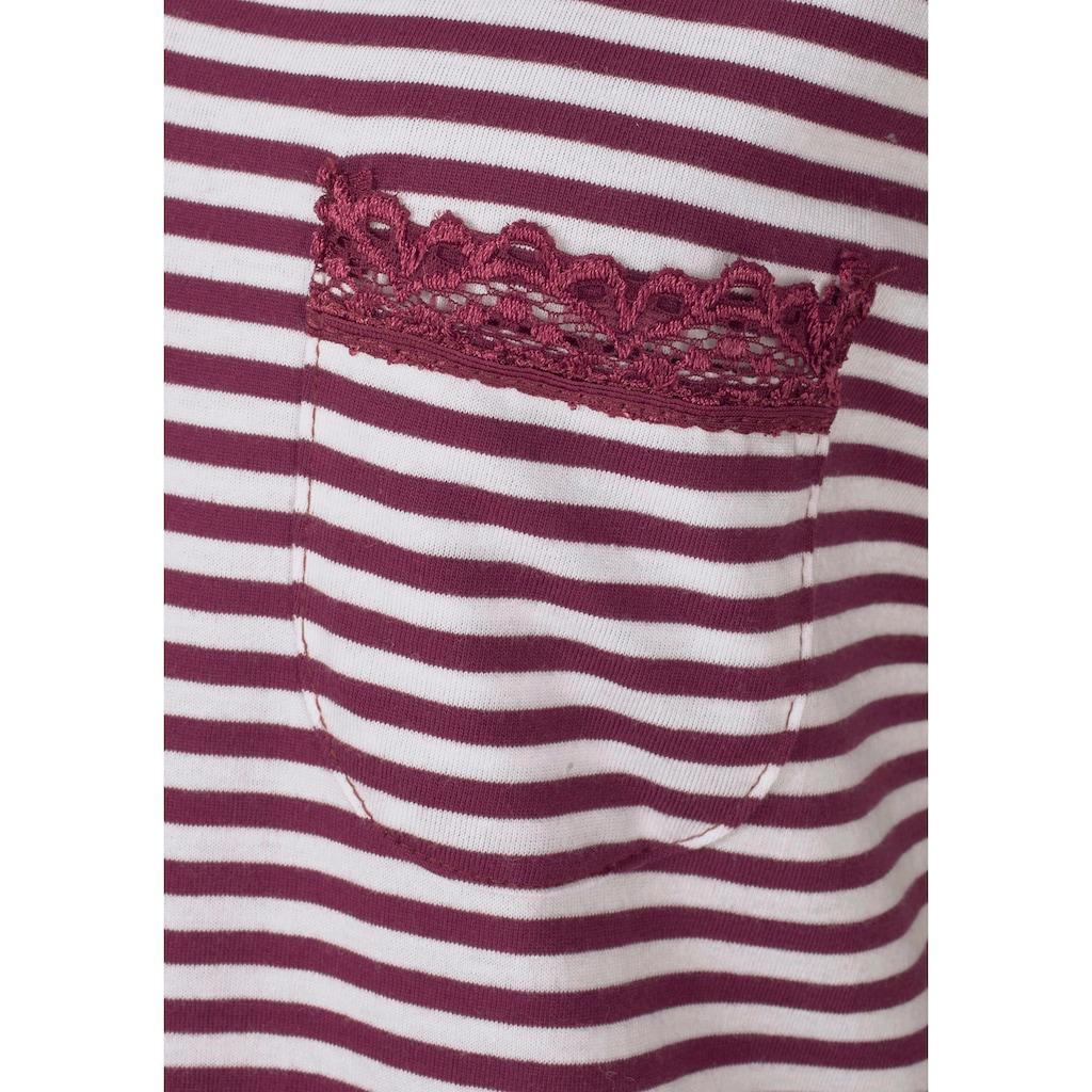 H.I.S Nachthemd, mit Spitzendetails