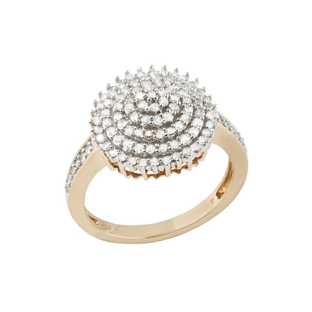 Firetti Diamantring »Blume/Blüte«, mit Diamanten