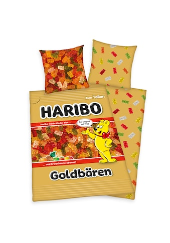 HARIBO Wendebettwäsche »Haribo Goldbärentüte, Baumwoll-Renforcé« kaufen