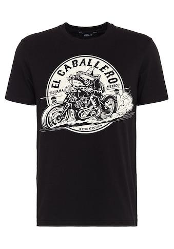KingKerosin Print-Shirt »El Caballero«, mit Front Print kaufen