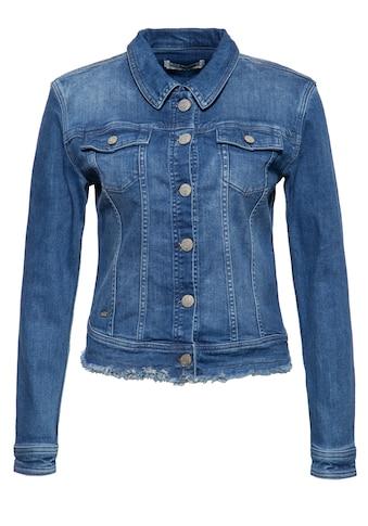 ATT Jeans Jeansjacke »Alicia«, mit Waschungen und offener Saumkante kaufen
