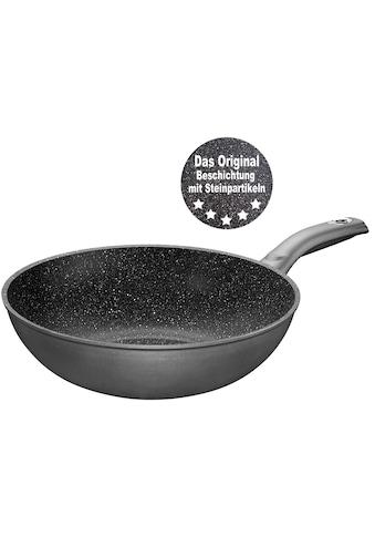 STONELINE Wok, Aluminium, (1 tlg.), Ø 30 cm, STONELINE®- Keramikbeschichtung, Induktion kaufen