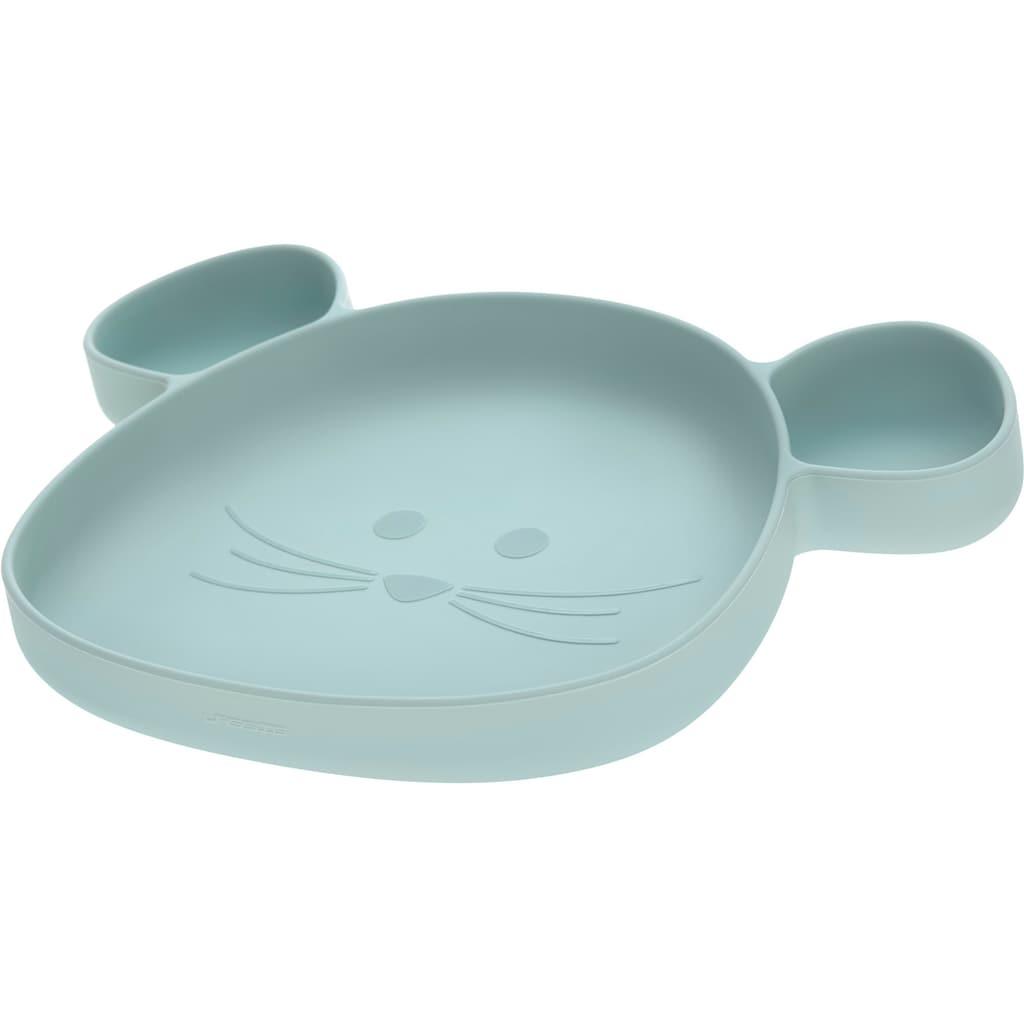 LÄSSIG Teller »Little Chums, Mouse blue«, mit Saugnapf
