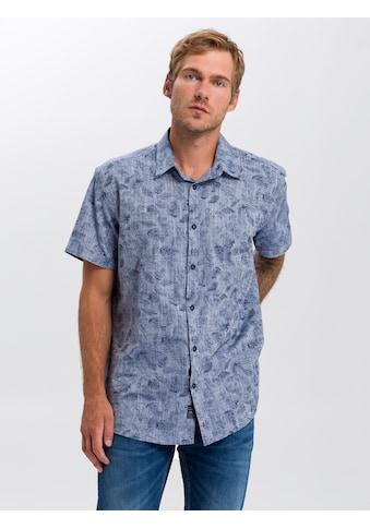 Cross Jeans® Kurzarmhemd »35350«, Floraler Alloverprint kaufen