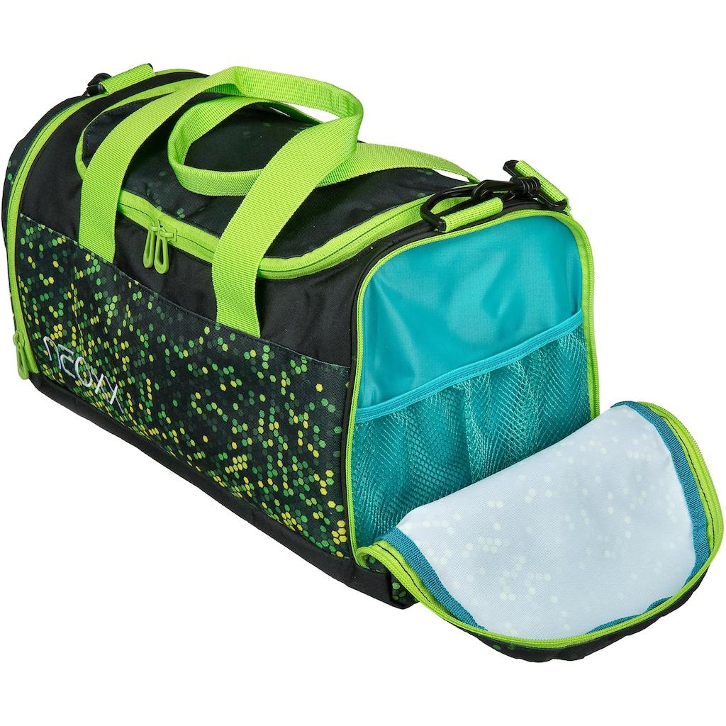neoxx Sporttasche »Champ, Pixel in my mind«, aus recycelten PET-Flaschen