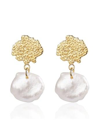 AILORIA Paar Ohrstecker »SHOICHI Ohrringe gold/weiße Perle«, Glänzendes Finish kaufen