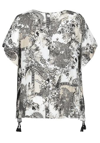 Samoon Klassische Bluse »Blusenponcho mit Quasten« kaufen