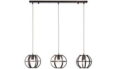 Brilliant Leuchten Deckenleuchten, E27, Basia Pendelleuchte 3flg schwarz stahl kaufen