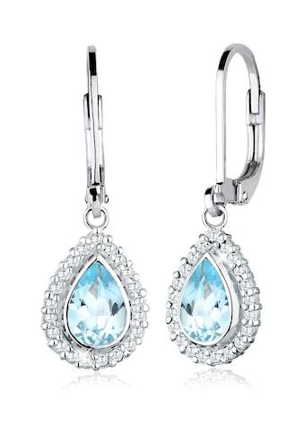 Elli Paar Ohrhänger »Tropfen Festlich Elegant Topas 925 Silber« kaufen
