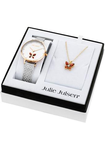 Julie Julsen Quarzuhr »Butterfly Box, JJW1187RGSME-SET«, (Set, 3 tlg., mit Kette und... kaufen