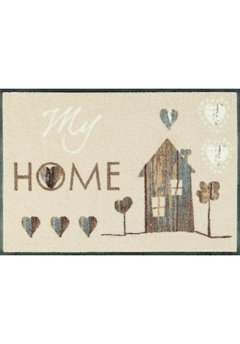 wash+dry by Kleen-Tex Fußmatte »My Home«, rechteckig, 7 mm Höhe, Schmutzfangmatte, mit... kaufen