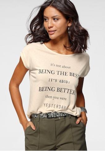 Bruno Banani T-Shirt, mit kleinen Pailletten-NEUE KOLLEKTION kaufen