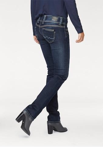 Pepe Jeans Gerade Jeans »VENUS«, Straight Passform mit niedrigem Doppel-Knopf-Bund und... kaufen