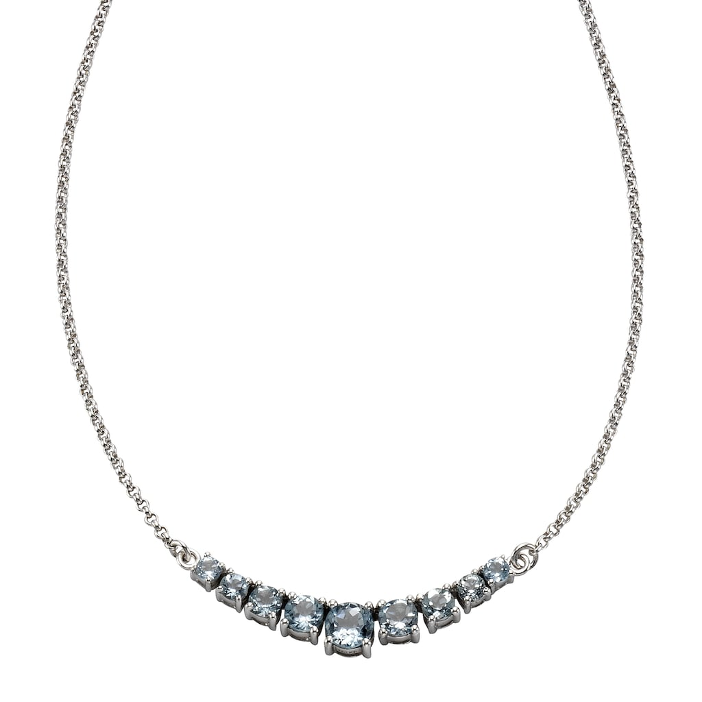 Zeeme Collier »925/- Sterling Silber mit Blautopas«, rhodiniert