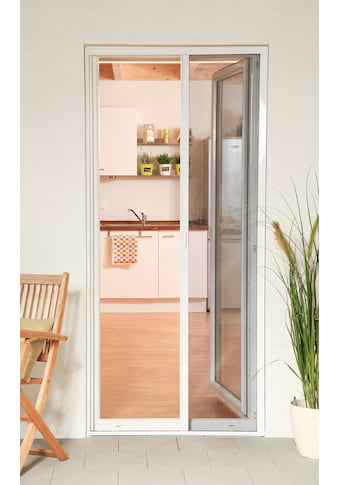 hecht international Insektenschutz-Rollo »SMART«, für Türen, weiß/anthrazit, BxH: 160x220 cm kaufen