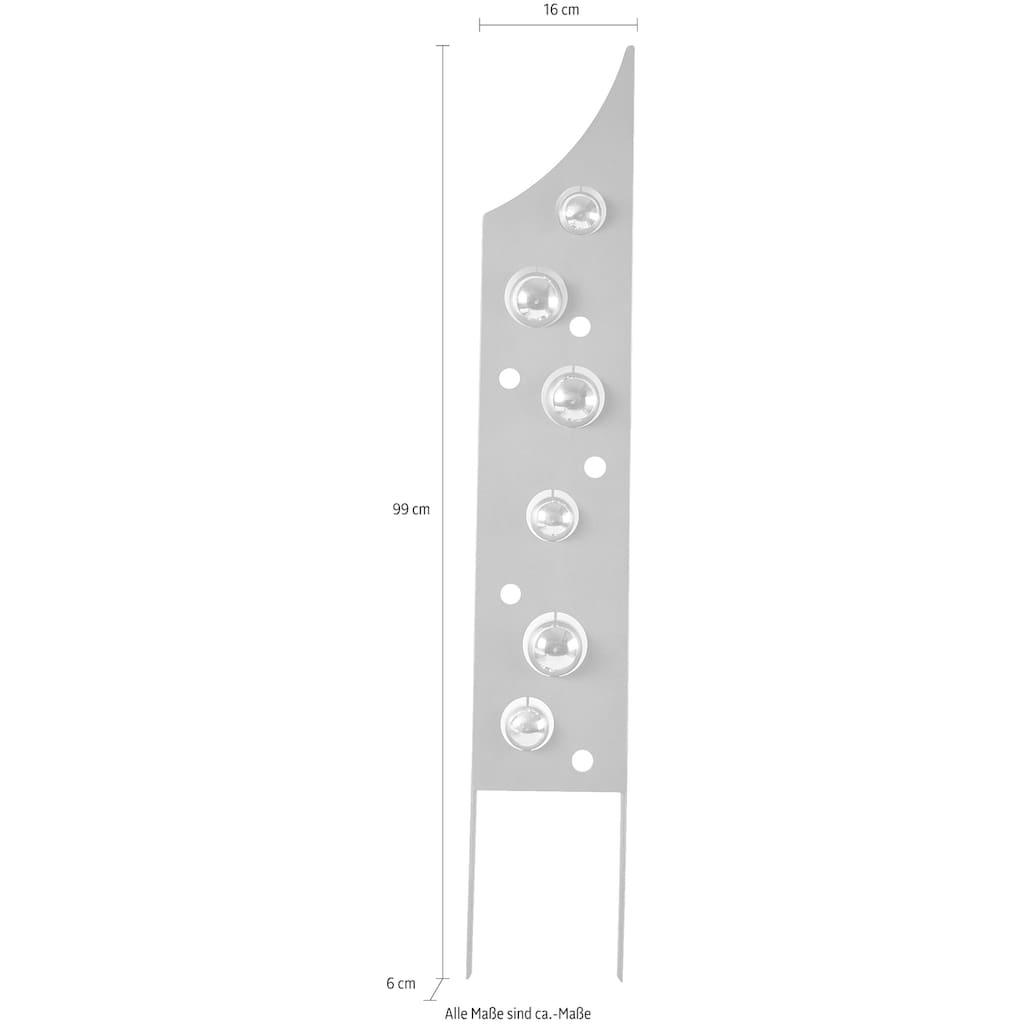 locker Deko-Windrad »Rusty Bubbles«, in Rostoptik, Materialmix, 99 cm hoch