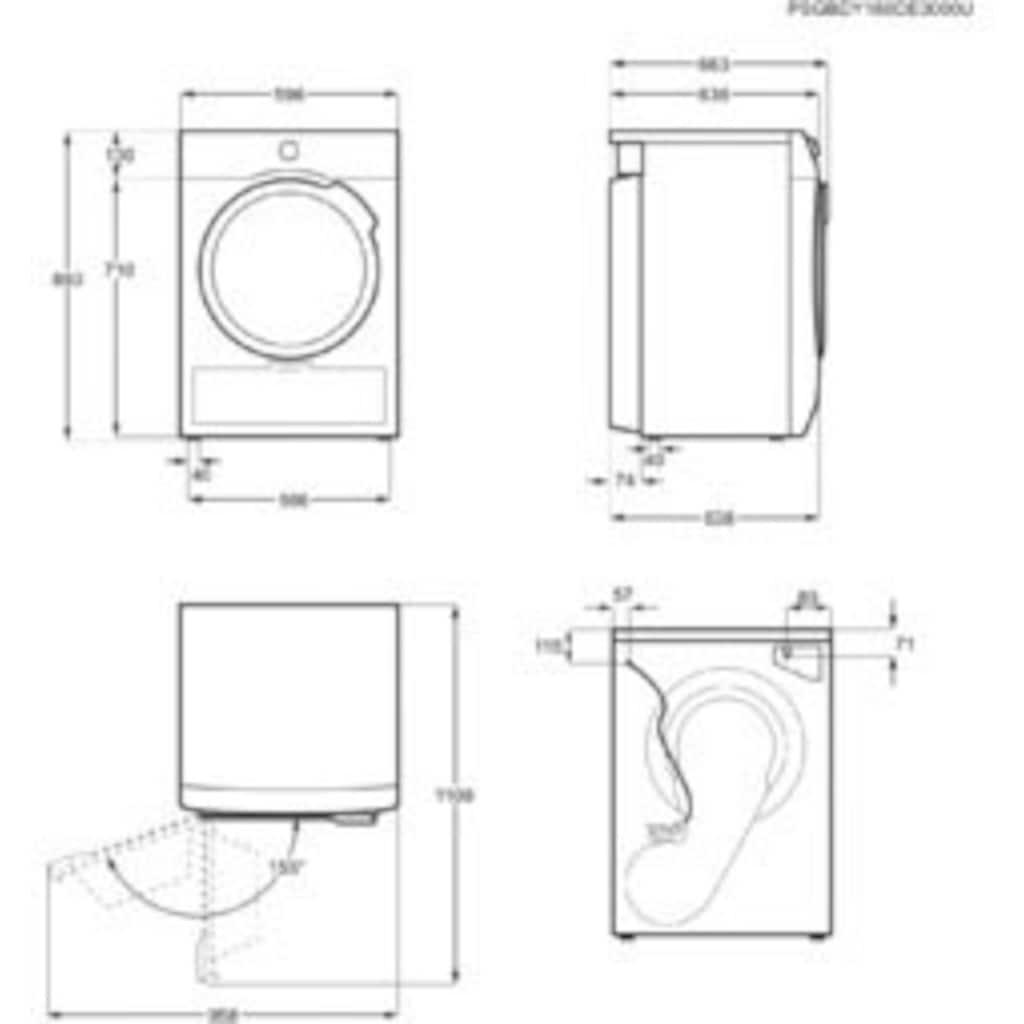 AEG Wärmepumpentrockner »T9DE79685«, 8 kg, 3D Scan - Trocknet nachhaltiger