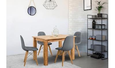 Home affaire Essgruppe »Ben«, (Set, 5 tlg.), bestehend aus 4 Scandi Stühlen mit... kaufen