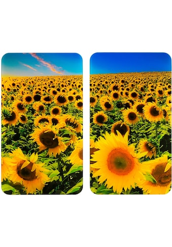 WENKO Herd-Abdeckplatte »Universal Sonnenblumenfeld«, (Set, 2 tlg.) kaufen