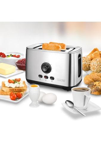 Unold Toaster »38955«, 2 kurze Schlitze, 2100 W, mit Turbo-Toast-Funktion kaufen