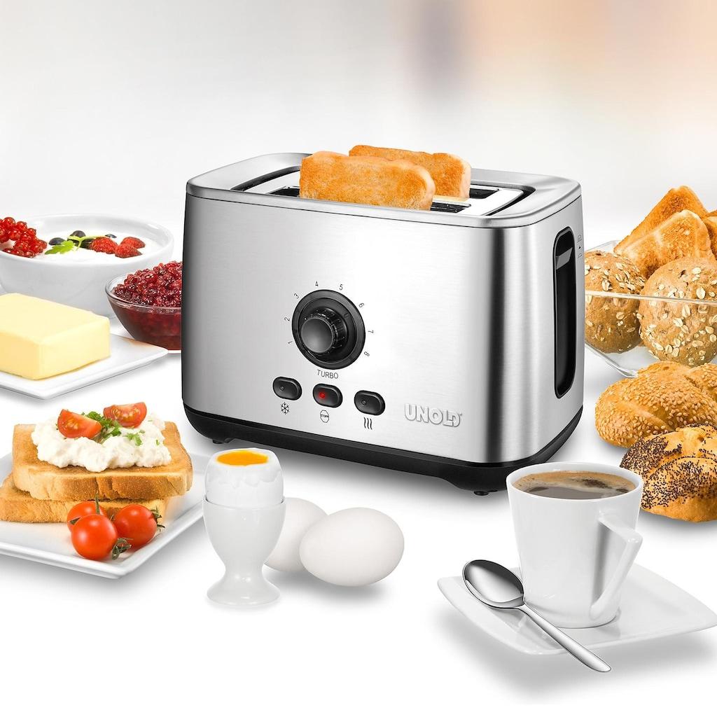 Unold Toaster »38955«, 2 kurze Schlitze, 2100 W, mit Turbo-Toast-Funktion