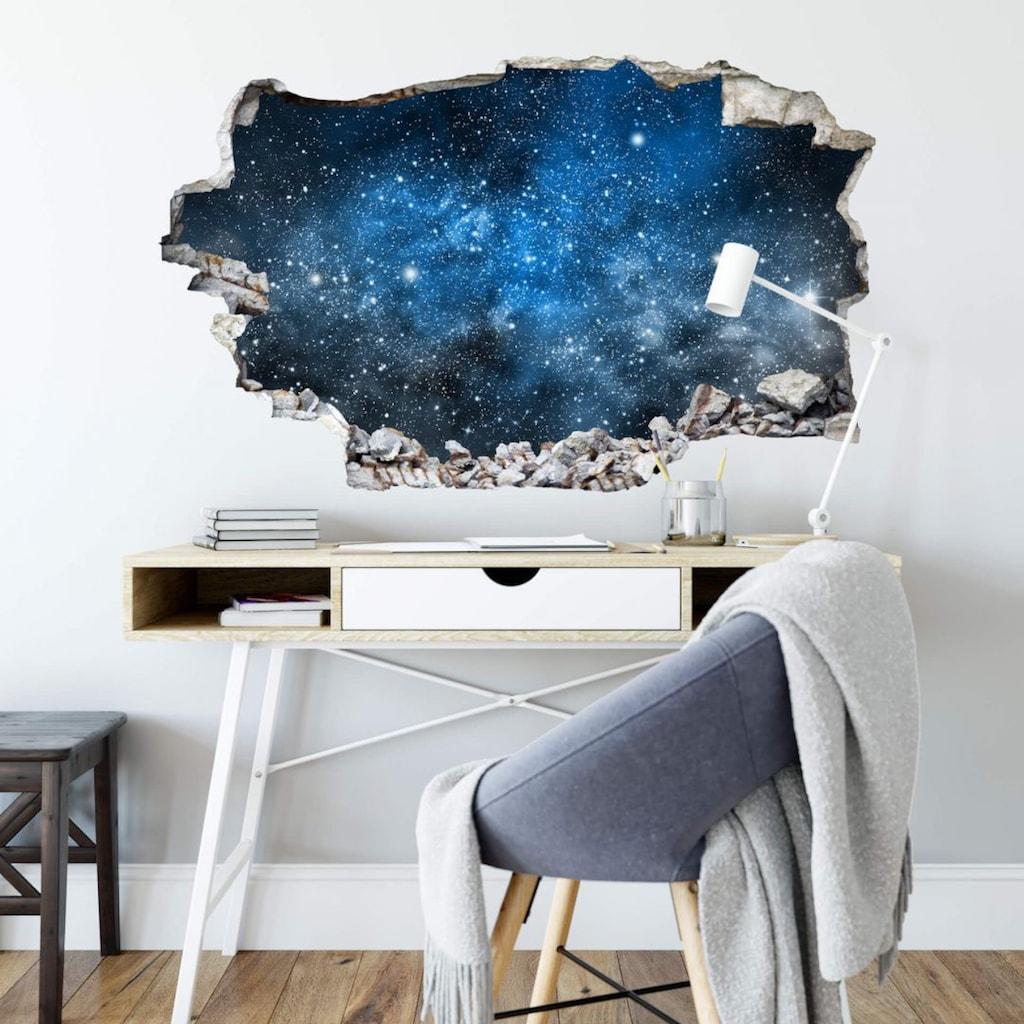 Wall-Art Wandtattoo »Universum Sticker 3D Weltraum«