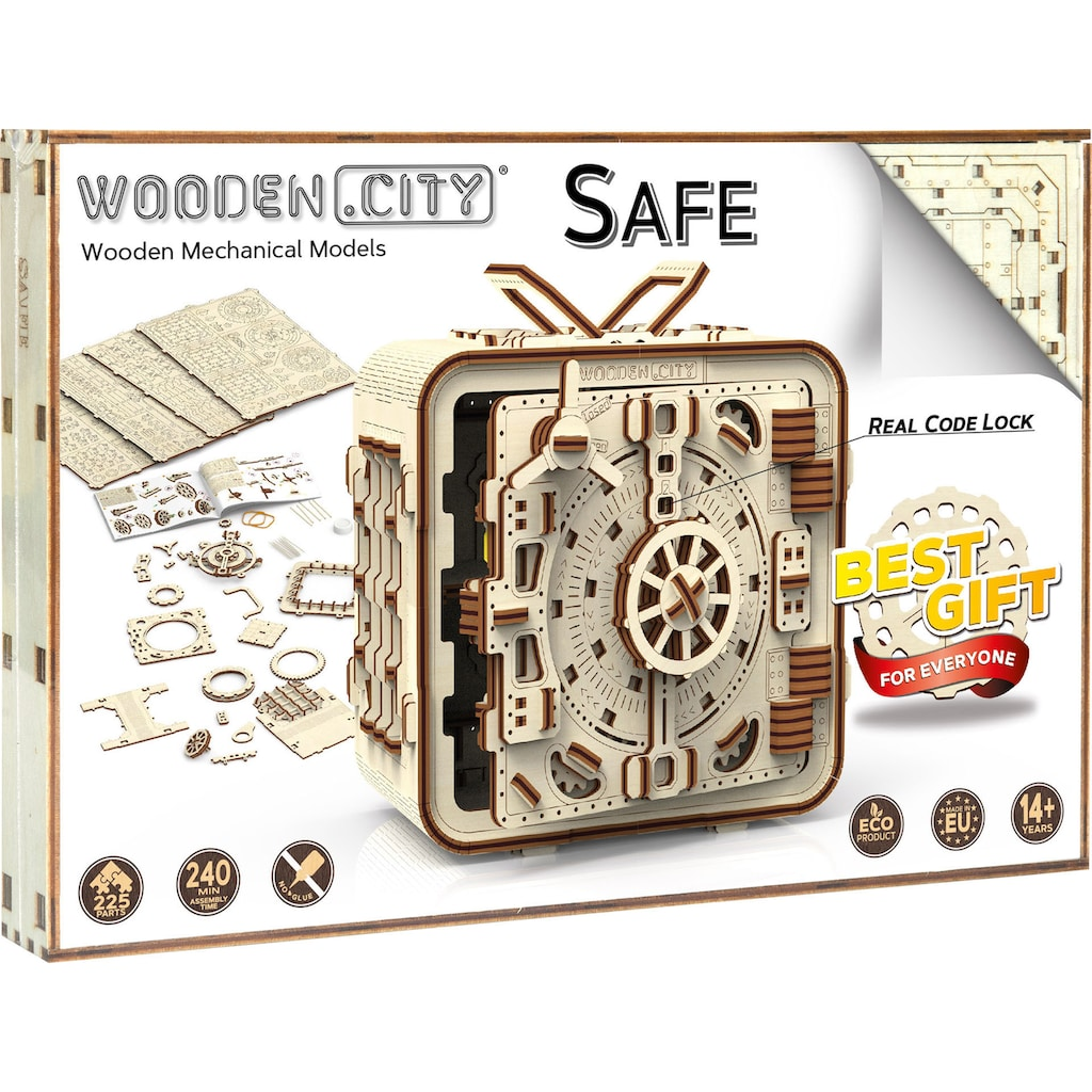 Wooden City Modellbausatz »Safe«, aus Holz; Made in Europe
