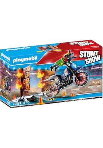 Playmobil® Konstruktions-Spielset »Motorrad mit Feuerwand (70553), Stuntshow«, (26 St.) kaufen