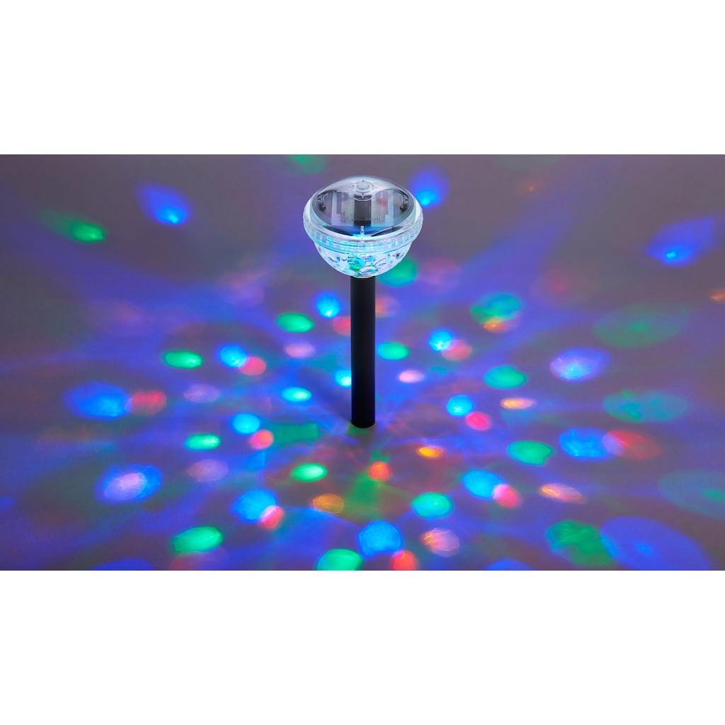 BONETTI LED Gartenleuchte, LED-Board, Set - 3 Stück, RGB Farbwechsel