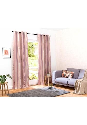 my home Verdunkelungsvorhang »Tinos«, Vorhang, Fertiggardine, Gardine, Breite 270 cm = 1 Stück --- Breite 130 cm = 2 Stück (mit Verbindungsnaht), verdunkelnd kaufen