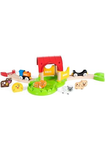 BRIO® Spielzeug-Eisenbahn »Mein erster BRIO® Bauernhof (33826)«, mit Sound, FSC®-Holz... kaufen