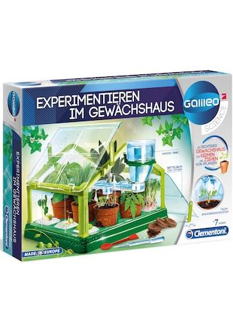 Clementoni® Experimentierkasten »Galileo - Experimentieren im Gewächshaus«, Made in... kaufen