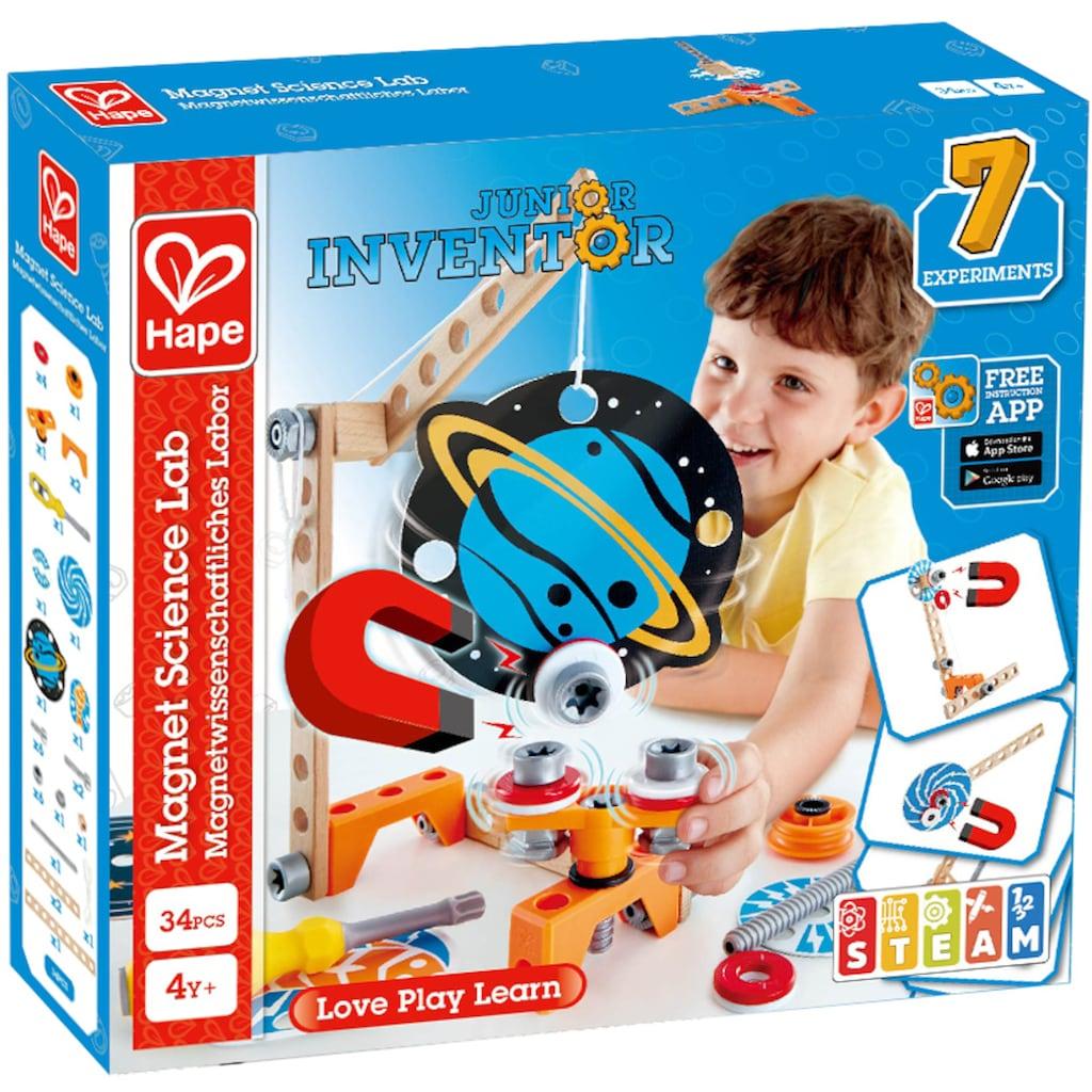 Hape Konstruktions-Spielset »Junior Inventor Magnetwissenschaftliches Labor«, (34 St.)