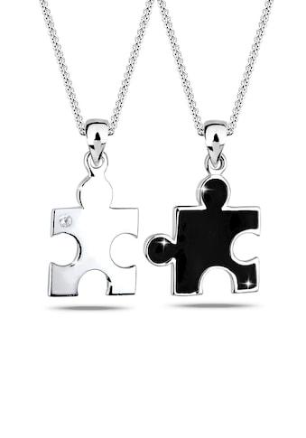 Elli Ketten-Set »Partnerketten Puzzle Zirkonia 925 Sterling Silber« kaufen