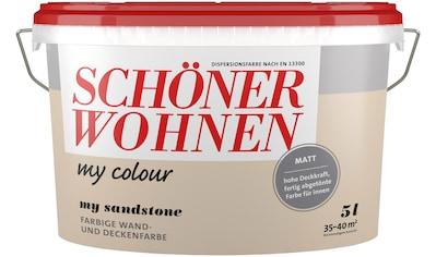 SCHÖNER WOHNEN FARBE Wand -  und Deckenfarbe »my colour  -  my sandstone«, matt, 5 l kaufen