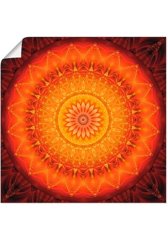 Artland Wandbild »Mandala Energie 1«, Muster, (1 St.), in vielen Größen & Produktarten... kaufen