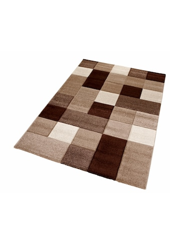 merinos Teppich »DRONNE«, rechteckig, 13 mm Höhe, handgearbeiteter Konturenschnitt,... kaufen