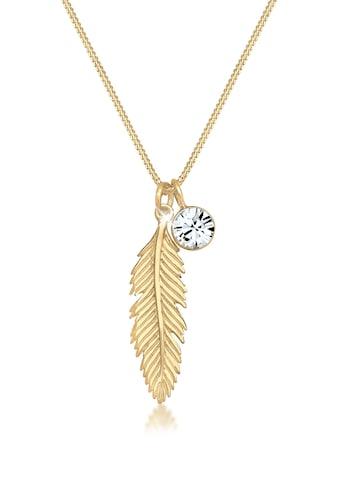 Elli Collierkettchen »mit Swarovski® Kristalle und Feder 925 Silber« kaufen