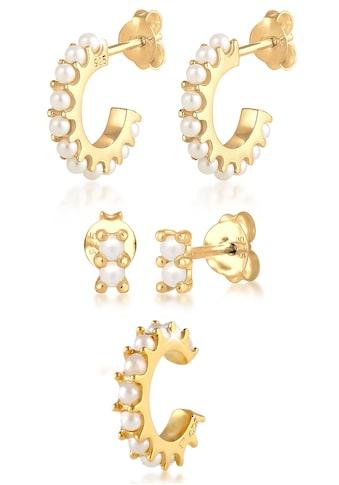 Elli Ohrring-Set »Ohrringe Creolen Stecker Earcuff Perlen, 0301221020«, (Set, 5 tlg.),... kaufen
