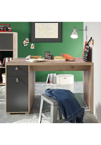 Begabino Schreibtisch »Merlin«, mit Seilgriffen, im modernen Dekor Old Style hell kaufen