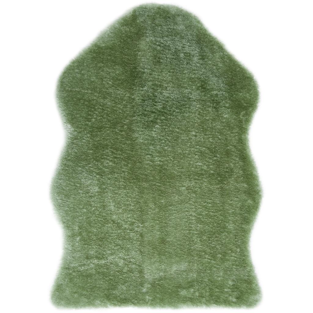 Andiamo Fellteppich »Lamm Fellimitat«, fellförmig, 20 mm Höhe, Kunstfell, besonders weich durch Microfaser, Wohnzimmer
