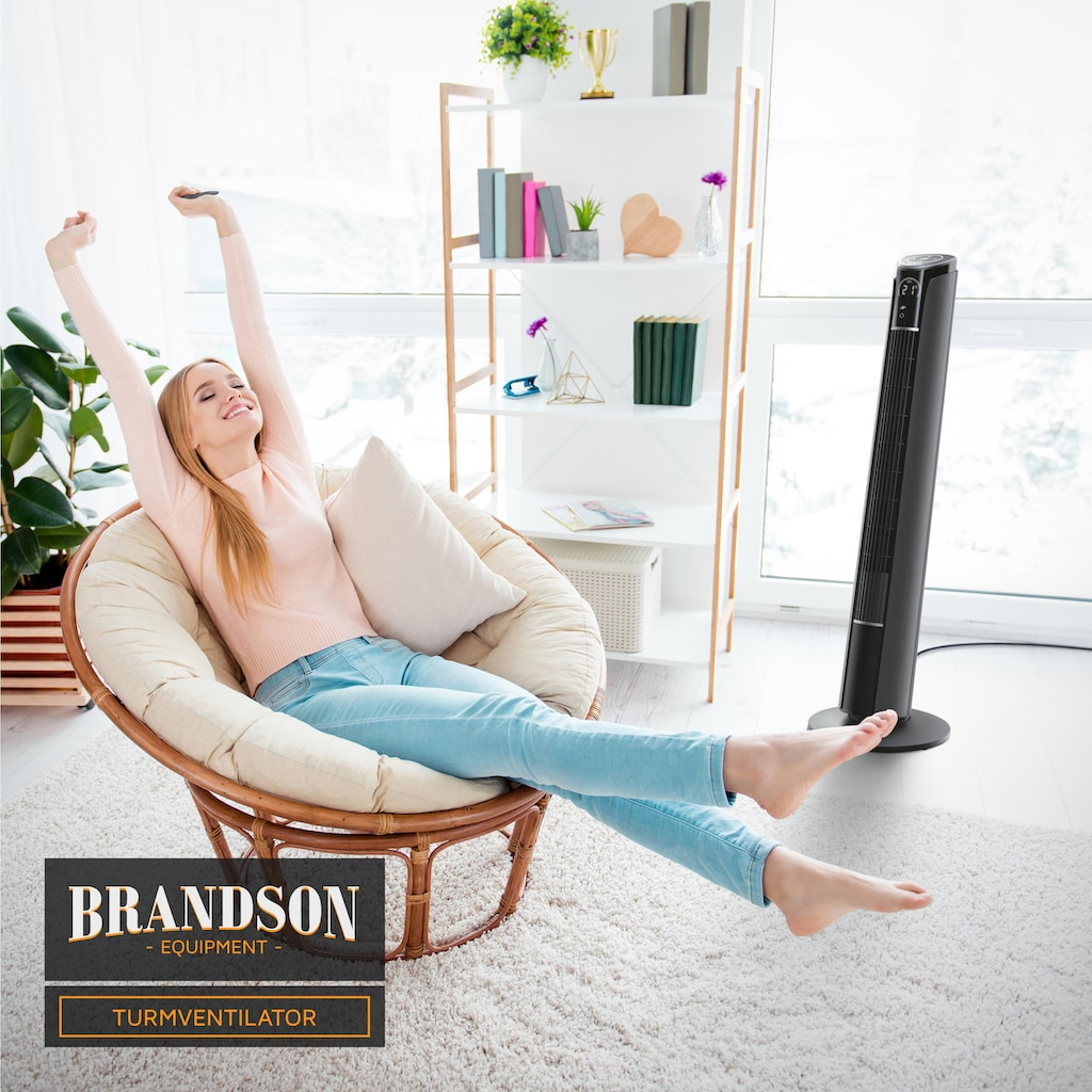 Brandson Turmventilator mit Fernbedienung & Oszillation