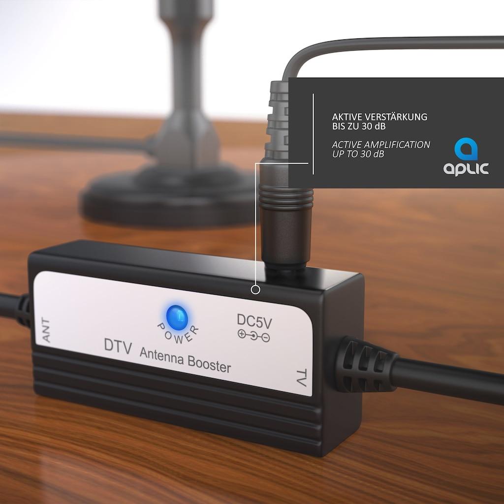 Aplic digitale DVB-T / DVB-T2 HD Antenne (aktiv) »hohe Empfangsleistung / bis zu 30dB«