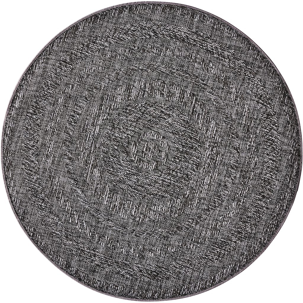 bougari Teppich »Almendro«, rund, 6 mm Höhe, Flachgewebe, Sisal-Optik, In- und Outdoor geeignet, Wohnzimmer