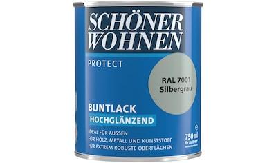 SCHÖNER WOHNEN-Kollektion Lack »Protect Buntlack«, hochglänzend, 750 ml, silbergrau... kaufen
