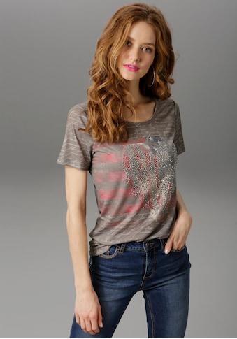 Aniston CASUAL T-Shirt, mit Steinchen-Verzierung kaufen