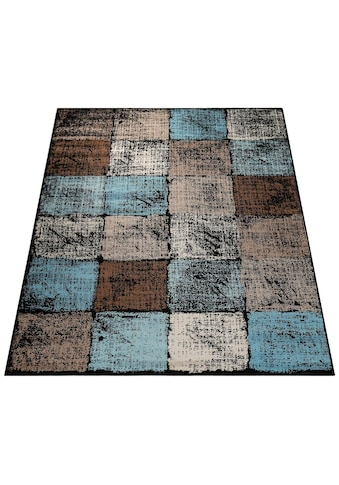 Paco Home Teppich »Metro 155«, rechteckig, 13 mm Höhe, Kurzflor mit Karo-Muster,... kaufen