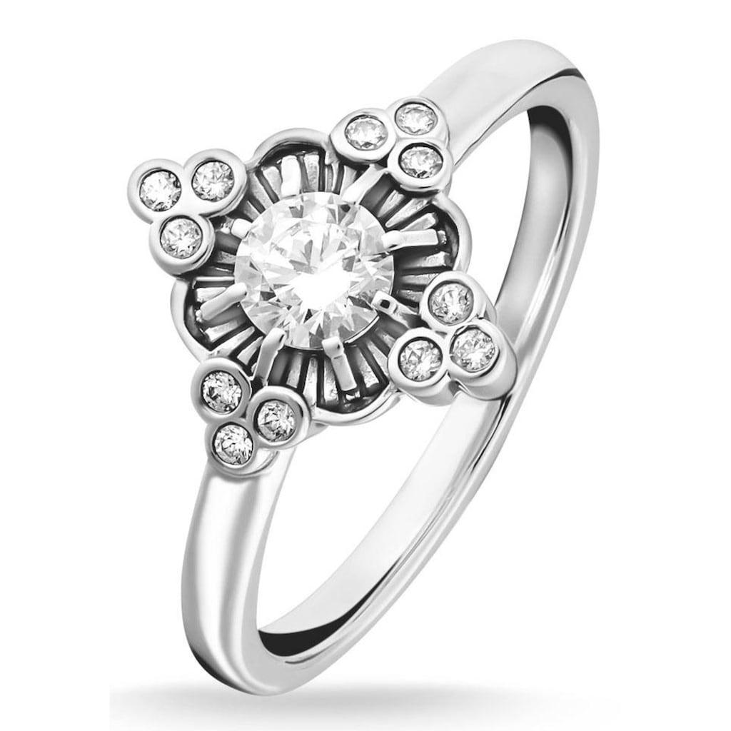 THOMAS SABO Silberring »Royalty weiß, TR2221-643-14-48, 50, 52, 54, 56, 58, 60«, mit Zirkonia