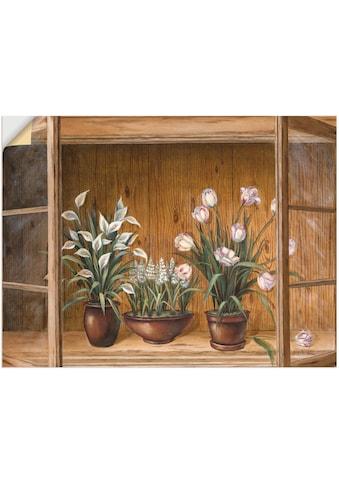 Artland Wandbild »Blumen in der Vitrine«, Vasen & Töpfe, (1 St.), in vielen Größen &... kaufen