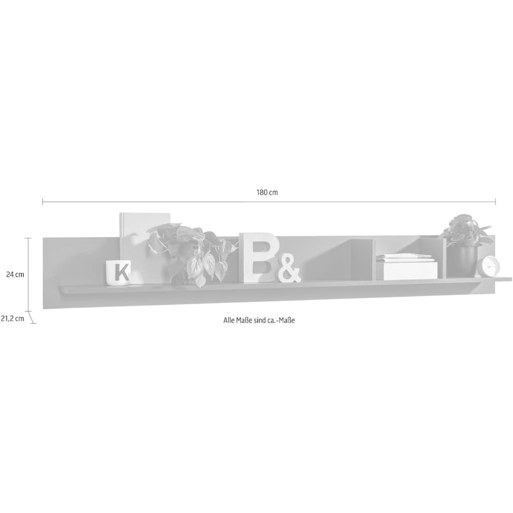 set one by Musterring Wandregal »TACOMA«, Typ 42, mit 2 vertikalen Trennwänden, Breite 180 cm